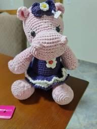 Hipopótamo em Amigurumi