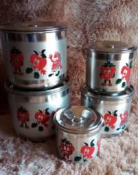 Jogo de lata de Mantimentos c 5 latas Grande e Resistentes