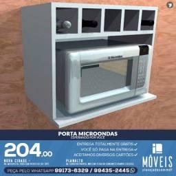 Promoção! Porta micro-ondas de MDF modelos a partir de R$ 124,00
