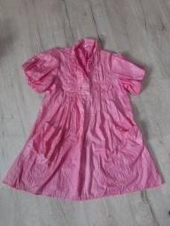Camisa rosa com brilho G