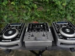 CDJ Numark 400 e Mix  x6, bem conservado.3.000.