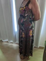 Vestido malha estampado novo