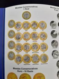 Coleção completa de moedas (Flor de Cunho nunca circuladas)