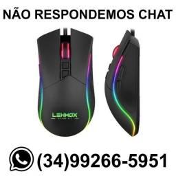 Mouse Gamer Led Lemox GT-M4 Botão na Lateral