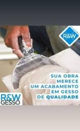 R&W gesso e iluminação!