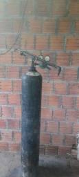 cilindro  oxigênio  com  caneta