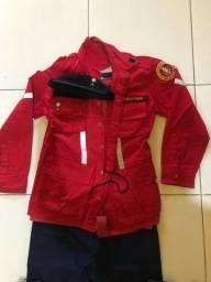 Fardamento / uniforme bombeiro civil completo .