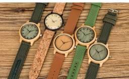 Relógios em madedeira - Novos