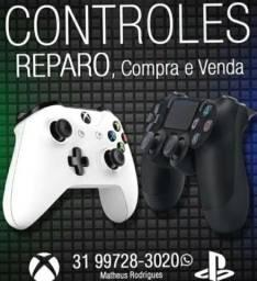 Manutenção Xbox one, ps4, Xbox 360, ps3, etc, especializada em controles, limpeza consoles