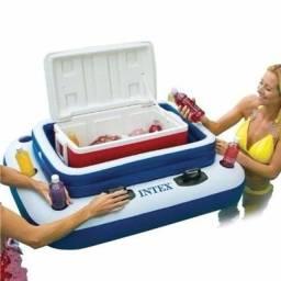Bar Flutuante Cooler Boia Inflável Piscinas Intex