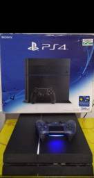 PS4 fat + 7 jogos + 1 controle