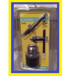 R$29,99 Kit madril para martelete furadeira 13mm ferramenta 3pças novo lacrado
