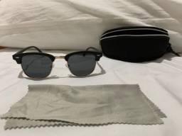 Óculos de sol aviador, novo, com caixa