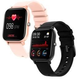 Smartwatch P8 Esportivo com Tela Touch de 1,4 polegadas.
