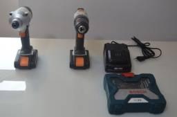 LOCAÇÃO | Kit Parafusadeira/Furadeira + Chave de Impacto a Bateria Dexter
