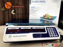 """Balança Digital 40kg C/ Bateria integrada Bivolt """"NOVA"""""""