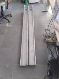 Calhas de alumínio 2,00 X 0,10 X 0,12 M