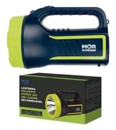 Lanterna Holofote Power Led 265 Lúmens / Recarregável - Mor