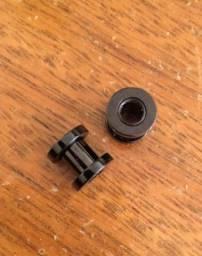 alargador preto, 6mm
