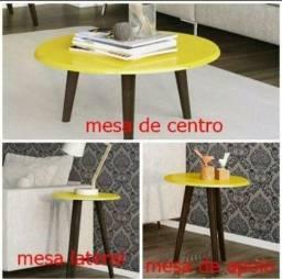 Conjundo mesa de centro apoio e lateral