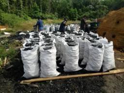 Carvão Vegetal em saca.