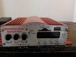 Módulo amplificador e auto falante