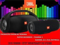 Caixa de Som JBL Boombox + Charge 3