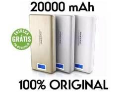 Bateria externa portátil, power bank pineng 20000 mah pn-999 - entrega grátis