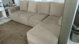 Sofa usado 3 lugarrs e chaise