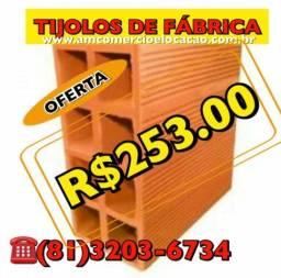 Tijolos de fábrica R$ 253.00