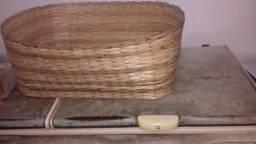 Cesto de pães de bambu