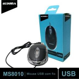 Mouse Usb Óptico MS8010 Ecooda Notebook Pc Led Acrilico Scroll Barato