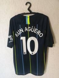 419bee6d8c Camisa Manchester City 2018 2019 Kun Aguero Tamanho G Pronta Entrega nova  na etiqueta