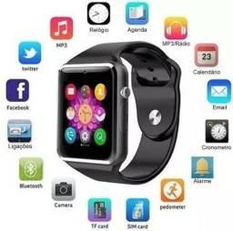 Relógio Smartwatch A1 Câmera Celular Chip Bluetooth