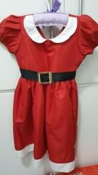 Vestido natal tamanho 2 - 3 anos.