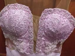 Lindo vestido de festa lilás