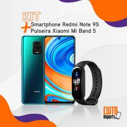 Kit Smartphone Xiaomi Redmi Note 9 4GB 128GB 48M + Xiaomi Mi Band 5