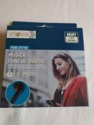 Fone de Ouvido Stereo Original Inova FON- 2171D Preto