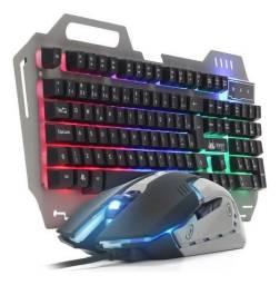 Teclado E Mouse Retroiluminado-(Loja Wiki)