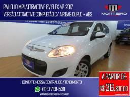 Fiat Palio 1.0 Mpi Attractive 8v Flex 4p Completão Excelente Estado