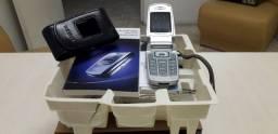 Celular Samsung E700 Premiun Cam Fliper antiguidade relíquia R$ 150,00 com caixa