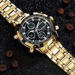 Relógio Boamigo dourado importado e original
