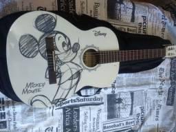 violão personalizado phx mickey mouse + capa