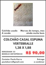 Colchão Casal Espuma Vertebralle 1,38 X 1,88
