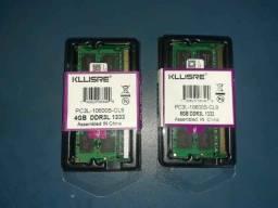Memória DDR3 e DDR4 Para Notebook, Novas com Garantia