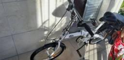 Bicicleta Dobrável Branca