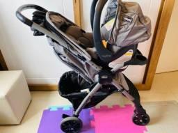 Carrinho+bebê conforto + base isofix Chicco