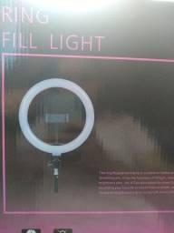 Ring light novo na caixa com controle de cores e intensidade. 130,00