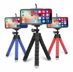 Mini Tripé Universal Flexível Suporte Celular Câmera Regulável