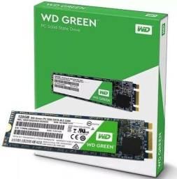 HD SSD Western Digital 120GB M.2, green, sata , novo, original, lacrado